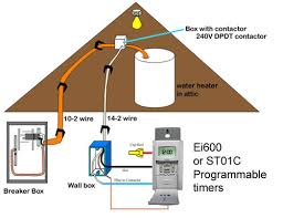 how to wire water heater with switches & timers 240v Switch Wiring Diagram water heater timer circuit wiring diagram for a 240v switch