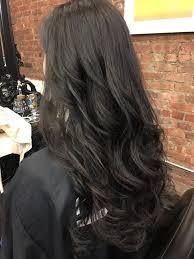 digital perm with long hair