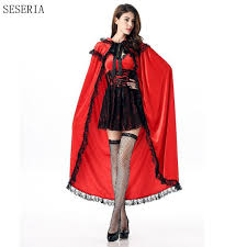 SESERIA New Arrival Little Red Riding <b>Hood Cosplay Halloween</b> ...