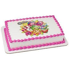Shopkins Edible Icing Image Cake Topper Decoration For 14 Sheet