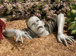garden sculpture. Lifesize Zombie Garden Sculpture C