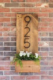 Wood Address Signs Outdoor Decor Welcome Home Innovative DIY House Number Signs Front doors 43