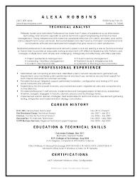 resume linkedin samples resume jane technical analyst resume