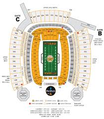 Steeler Game Seating Chart Game Day Seating Chart Heinz Field In Pittsburgh Pa