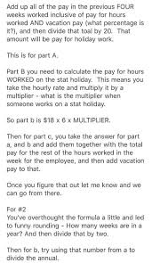 solved please calculate pay for the