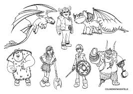 How To Train Your Dragon Coloring Pages Collection