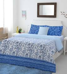 100 cotton sheets king. Perfect Sheets Indigo 100 Cotton Intensity King Bed Sheet Set By Spaces For 100 Sheets E