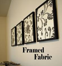 Cheap Black And White Floral Framed Fabric Wall Art Decor Ideas For Family  Room