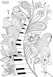 Music Coloring Pages Sheets Kids Notes