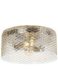brass effect flush ceiling light designs