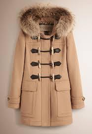womens burberry plaid fur coat