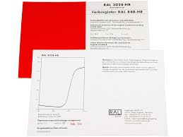 Ral 840 Hr Colour Chart Ral 840 Hr Color Register Card For All Ral Colors