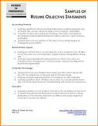 Accounting Objective Resume Collection Of Solutions Accounting Resume Objective Resume Templates 17