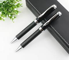luxury full carbon fiber ballpoint pen for gifts heavy metal pen office writing pen