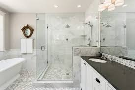 bathtub and shower in new luxury home whether you re a