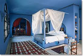blue bedrooms. Mediterranean Bedroom In Blue, White And Rose Madder Blue Bedrooms S