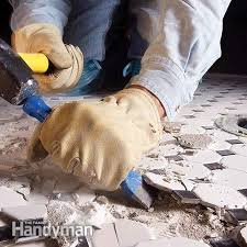 chisel up tiles