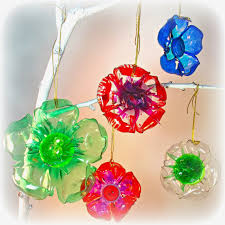 Decorated Plastic Bottles Recycled Plastic Bottle Flowers Totally Green Crafts 35
