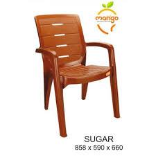 mango dark brown plastic garden chair