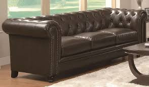 roy on tufted classic leather sofa roy on tufted leather sofa