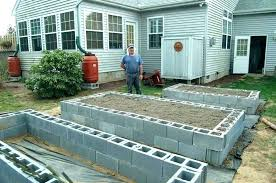 cinder cement block garden edging blocks raised beds bed build bricks