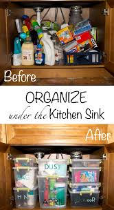 Under Kitchen Sink Organizing Organize Under The Kitchen Sink With Finish Dishwasher Cleaner