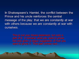 how to write an essay in minutes an introduction to the  in shakespeare s hamlet the conflict between the prince and his uncle reinforces the central message
