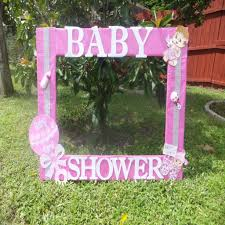 ba shower for girl photo frame cuadro tematico made thelma within baby shower frames