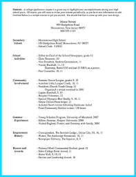 resume samples for high school students applying to college resume sample  format job high school students