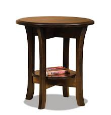 ask us a question amish ensenada 22 round end table with shelf
