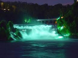rhine falls spotlights coloured cascade lights foam waterfall ot tobias niessing lux picture