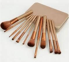 makeup brushes set 12 pieces kit with metal bo