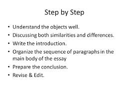 unit comparison and contrast essays what is comparison 8 step
