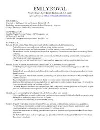 resume - Strength And Conditioning Resume Examples