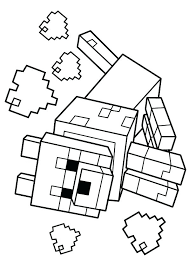 Minecraft Coloring Pages Wolf Coloring Page Minecraft Steve And Alex