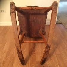 armless wooden rocking chair antique sewing nursing rocker low wooden antique sewing nursing rocker low wooden
