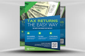 Tax Flyer Design Income Tax Flyer 2 Flyerheroes
