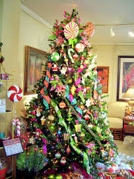 Christmas Tree Decoration Ideas With Ribbon  Double Topper