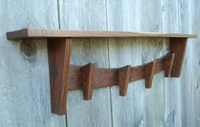 Vintage Coat Rack With Shelf Best Walnut Coat Rack With Shelf Rustic Craftsman Other Mission Style