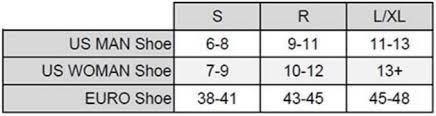 Aqualung Slingshot Size Chart Aqua Lung Slingshot Fins 053242202701