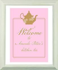 Kitchen Tea Party Invitation Lady Pink Personalized Tea Bag Favours Tea Party Supplies