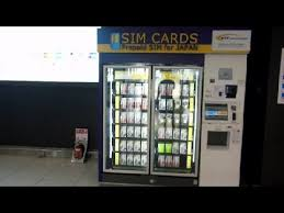Japan Sim Card Vending Machine Impressive SIM Vending Machine In Japan YouTube