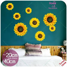 sunflower wall decor for kitchen 4 size a set stickers home decals sticker living