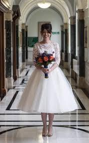 tea length bridal dresses mid length wedding gown dorris wedding