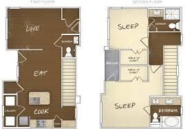 Two story apartment Paris Floor Plans Hotelscom B2 Cottage Floor Plans Grapevine Station Apartments