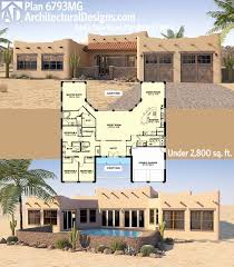 amusing adobe style house plans with courtyard home santa fe meets traditional