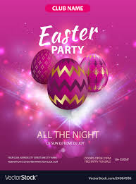 Happy Easter Party Flyer Design Party Club