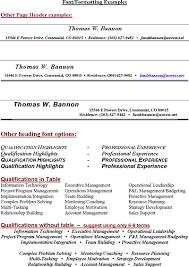 Resume Headings
