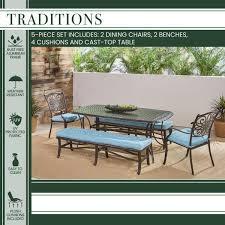 5 piece aluminum outdoor dining set