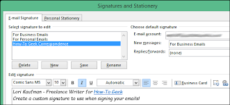 How To Use The Signature Editor In Outlook 2013